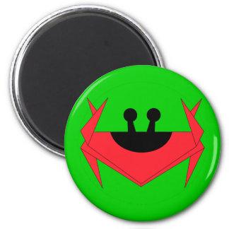 Christmas Island crab (green) 6 Cm Round Magnet