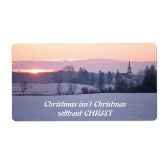 Christmas isn't Christmas Label Shipping Label