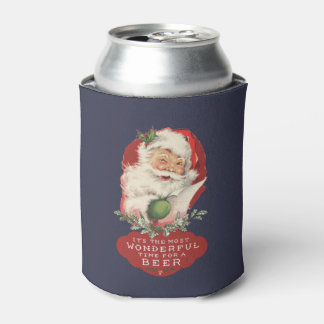 Christmas It's The Most Wonderful Time For a Beer Can Cooler