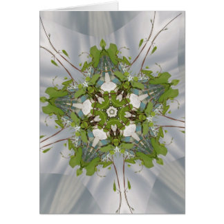 Christmas Ivy Kaleidoscope Star Card