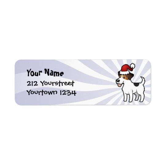 Christmas Jack Russell Terrier Return Address Label