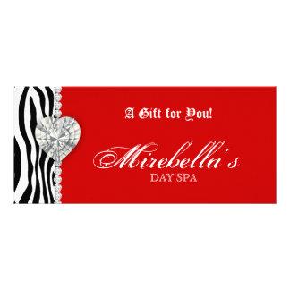 Christmas Jewelry Gift Certificate Zebra Red Custom Rack Card