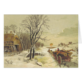 Christmas Journey to Home Greeting Card