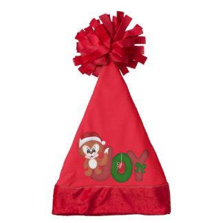 Christmas Joy Fox Holiday Santa hat