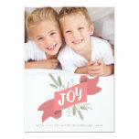 Christmas Joy Holiday Banner Photo Greeting 13 Cm X 18 Cm Invitation Card