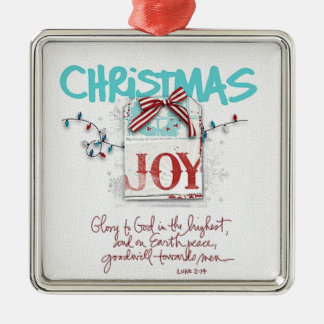 Christmas Joy Metal Ornament