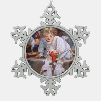 Christmas Joy Pewter Snowflake Decoration