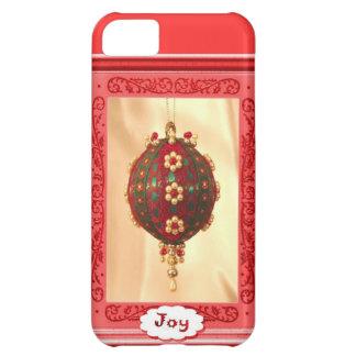 Christmas Joy, pink balls iPhone 5C Cover