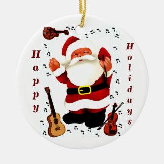 Christmas Joy_ Round Ceramic Decoration