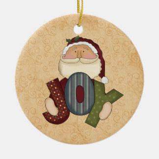 Christmas Joy Santa Ornament