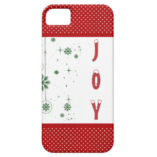 Christmas Joy Snowflakes Polka Dots Barely There iPhone 5 Case
