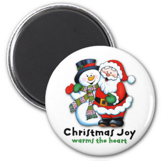 Christmas joy warms the heart magnet