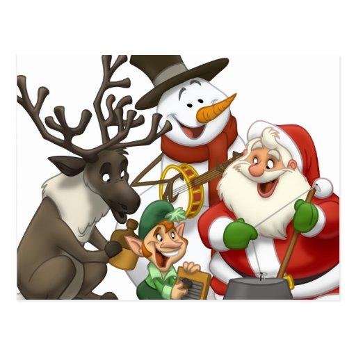 Christmas Jug Band Postcard