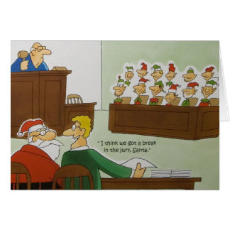 Christmas Jury Greeting Card