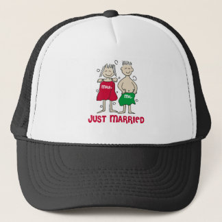 Christmas Just Married Trucker Hat