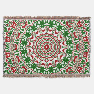 Christmas Kaleidoscope 2 Throw Blanket