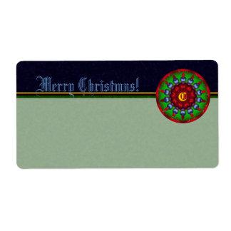 Christmas Kaleidoscope Shipping Label
