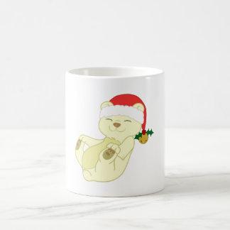 Christmas Kermode Bear - Santa Hat & Jingle Bell Basic White Mug