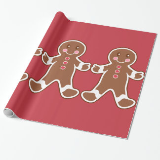 Christmas Kids Gingerbread Boy Cute Wrapping Paper