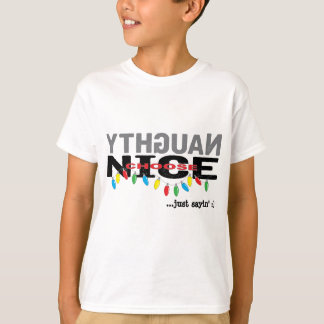 "Christmas Kids T-Shirt ""NAUGHTY choose NICE"""