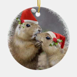 Christmas Kiss Ornament