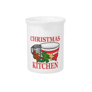 christmas kitchen pitcher