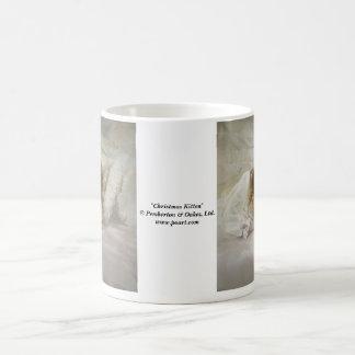 Christmas Kitten Basic White Mug