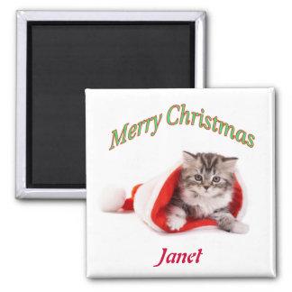Christmas Kitten Custom Magnet