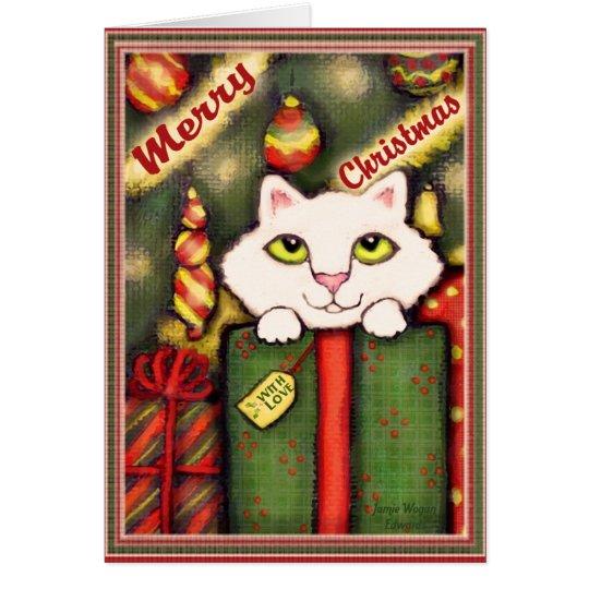 Christmas Kitten Greeting Card
