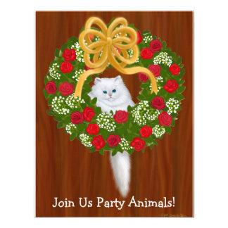 Christmas Kitten Invitation