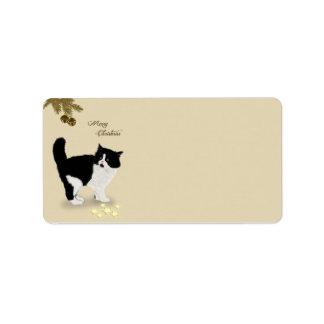 Christmas Kitten Label