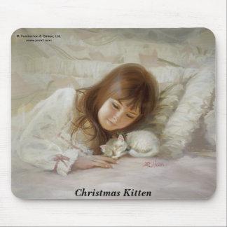Christmas Kitten Mouse Pad