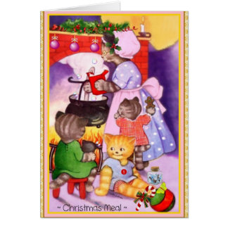 Christmas Kittens Cook for Santa Greeting Card