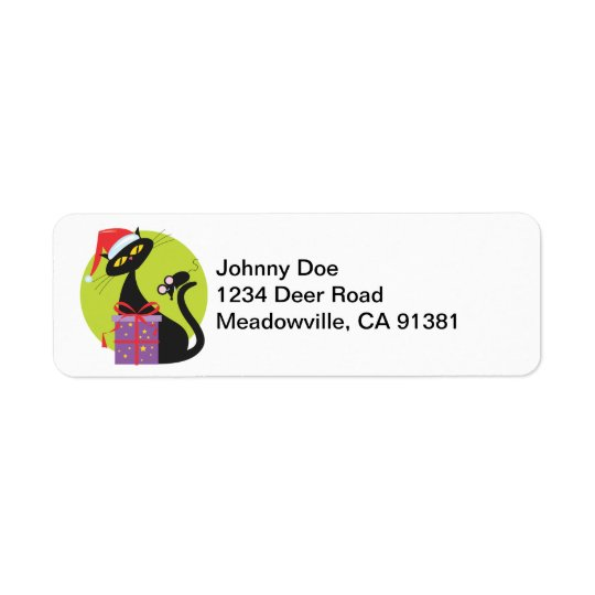 Christmas Kitty Avery Label Return Address Label
