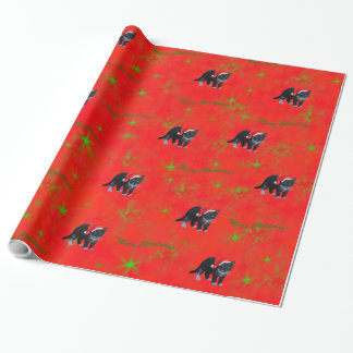 Christmas kitty cat Tuxedo Wrapping Paper