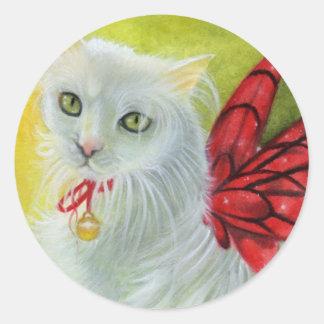 Christmas Kitty Crimson Wings Sticker