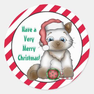 Christmas Kitty Holiday Greetings sticker