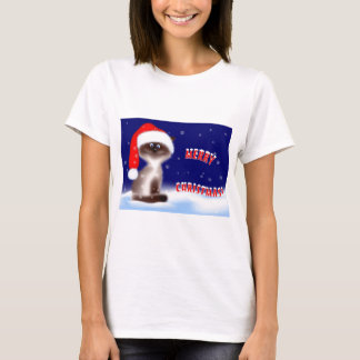 Christmas Kitty T-Shirt for Women
