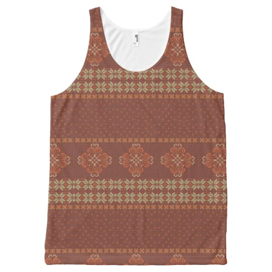 Christmas knitted pattern All-Over print singlet