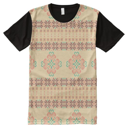 Christmas knitted pattern All-Over print T-Shirt