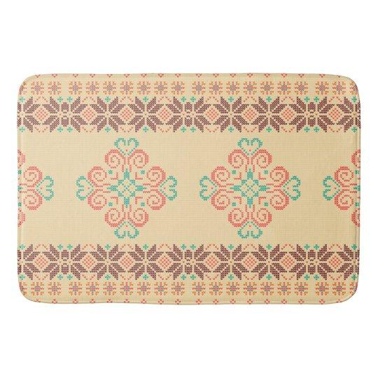 Christmas knitted pattern bath mat