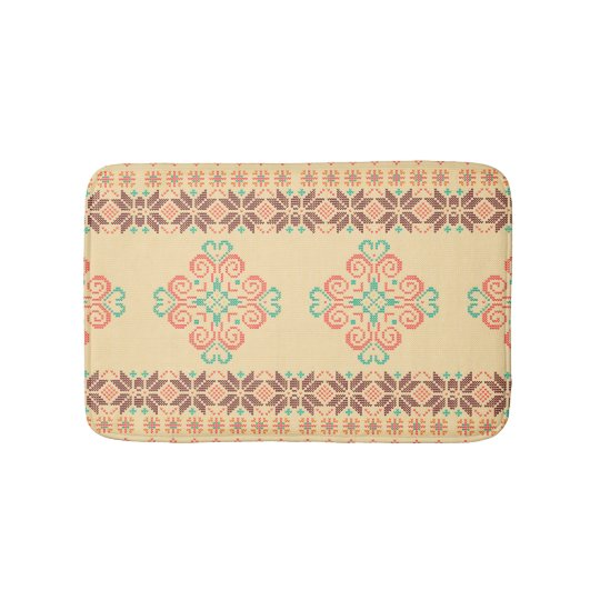 Christmas knitted pattern bath mat