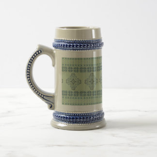Christmas knitted pattern beer stein
