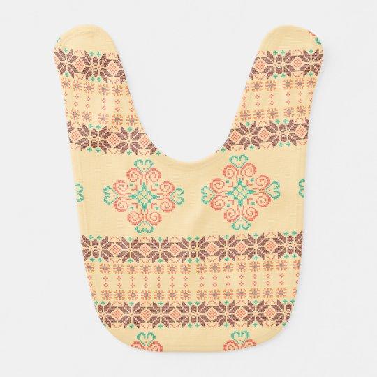 Christmas knitted pattern bib