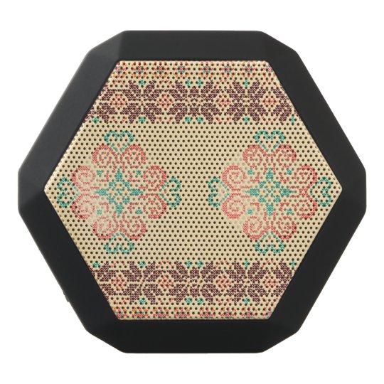 Christmas knitted pattern black bluetooth speaker