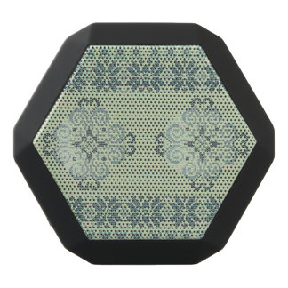 Christmas knitted pattern black bluetooth speaker