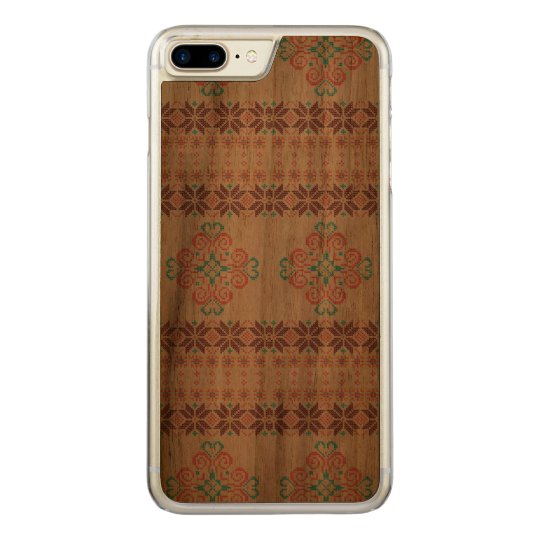 Christmas knitted pattern carved iPhone 8 plus/7 plus case