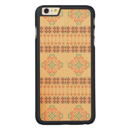 Christmas knitted pattern carved maple iPhone 6 plus case