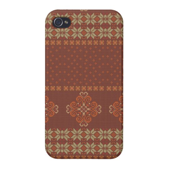 Christmas knitted pattern case for iPhone 4