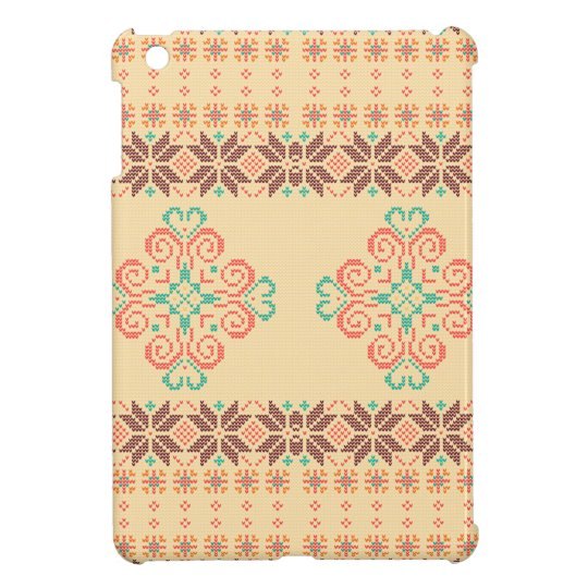 Christmas knitted pattern case for the iPad mini